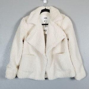 Jack bb dakota white sherpa jacket xs